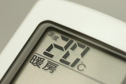 エアコンのリモコン(暖房)
