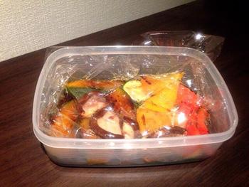 野菜とバルサミコ酢