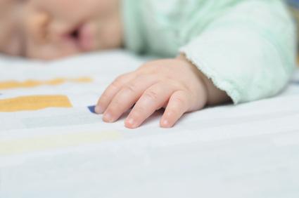 Hand of sleeping baby