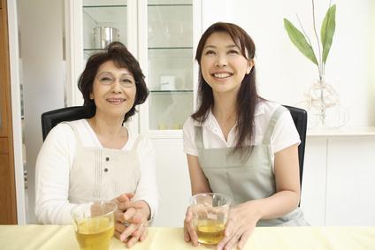 笑顔の嫁と姑