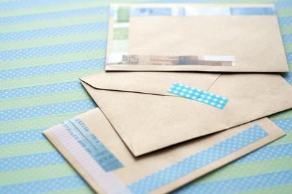 マスキングテープ 封筒 手紙