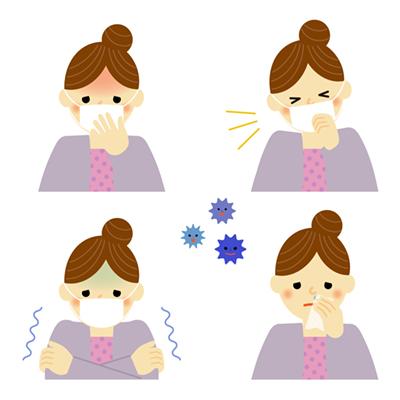 風邪の症状イラスト