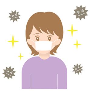 風邪予防のイラスト