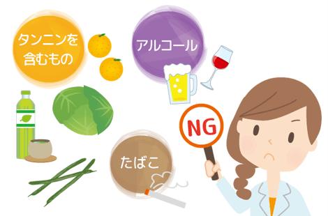 吸収を阻害する食べ物
