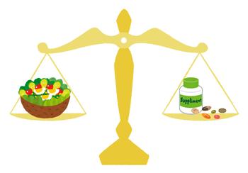 食事とサプリのバランス