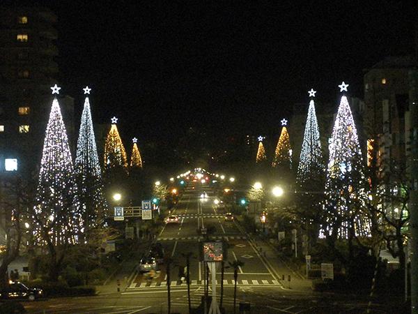 国立駅前大学通り商店街クリスマスイベント