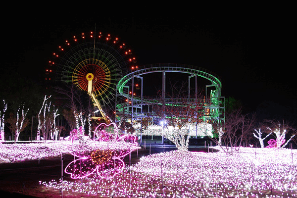 みろくの里 Winter illumination 音と光の遊園地