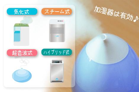 乾燥対策:加湿器