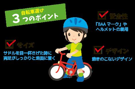 自転車 選び方3ポイント