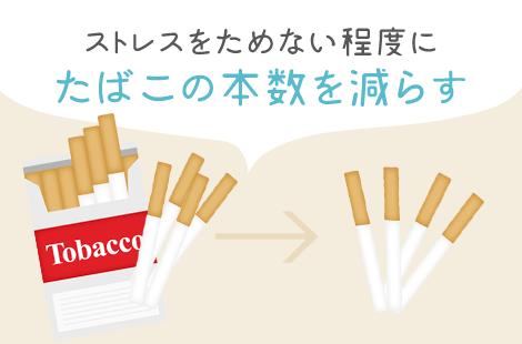 たばこの本数を減らす