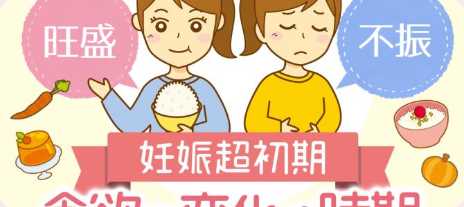 妊娠超初期 食欲