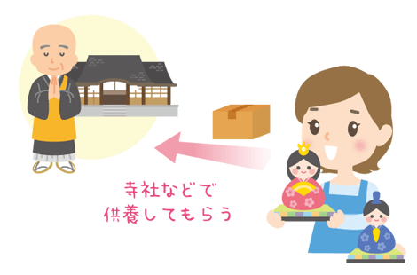 雛人形を供養する